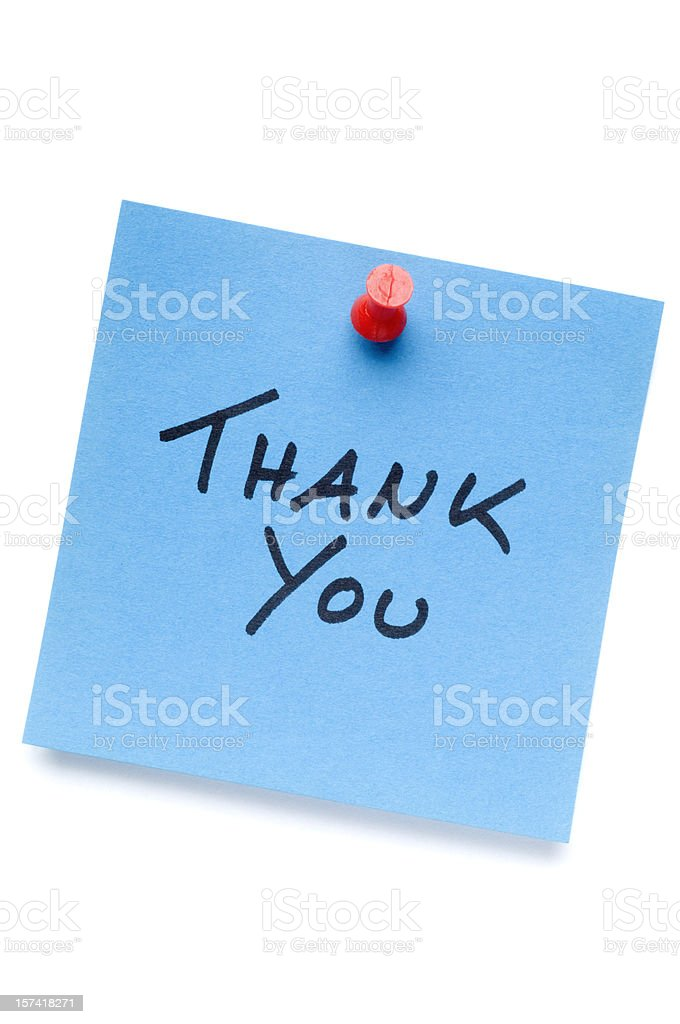 Thank You isolated Postit note royalty-free stock photo