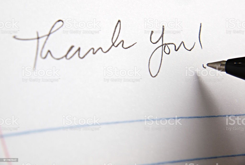 Thank You Letter stock photo