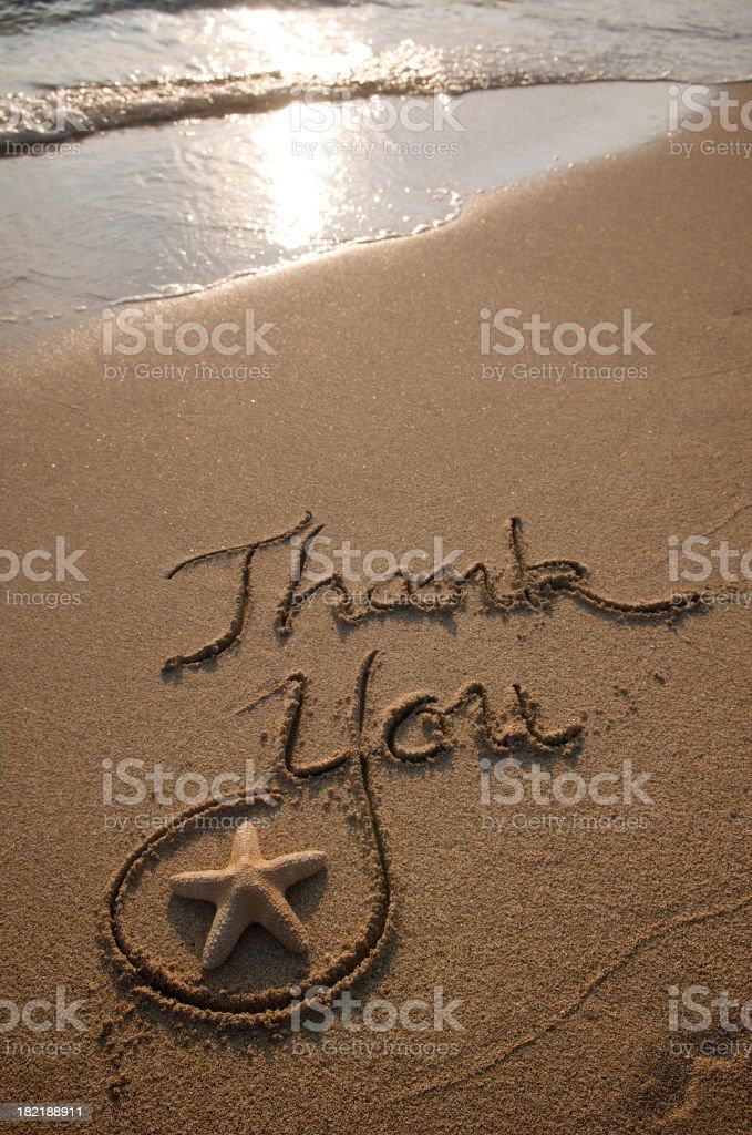 Thank You Message Golden Sun royalty-free stock photo
