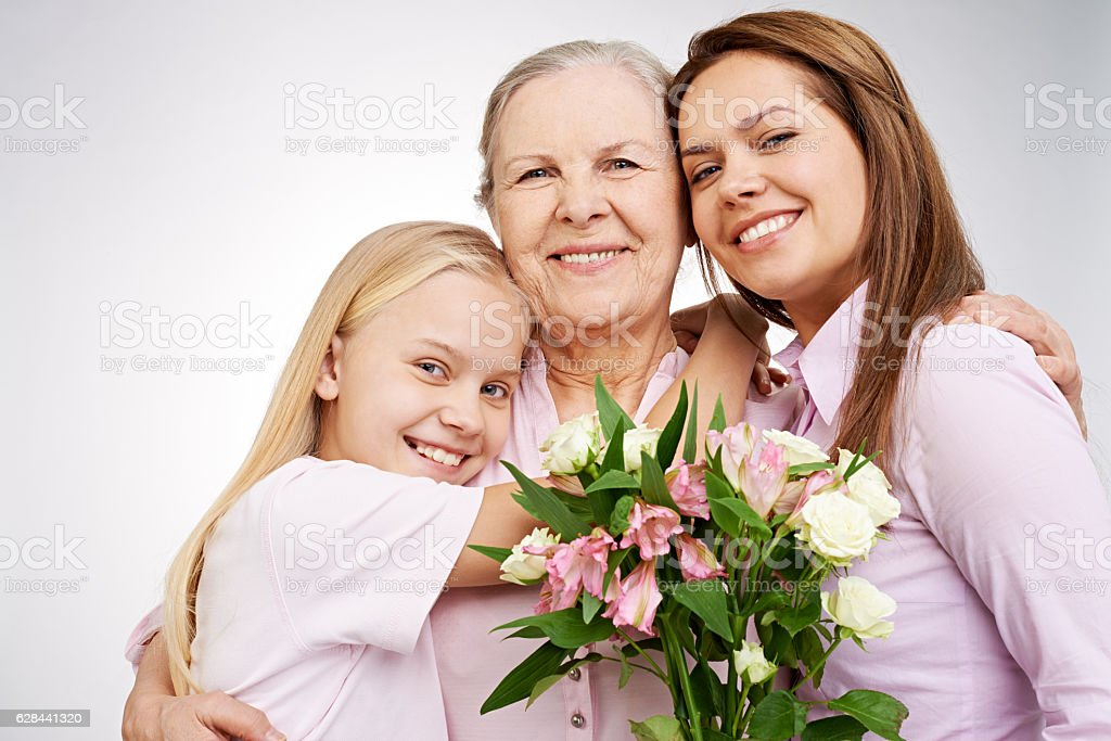 Thank you, mom! stock photo