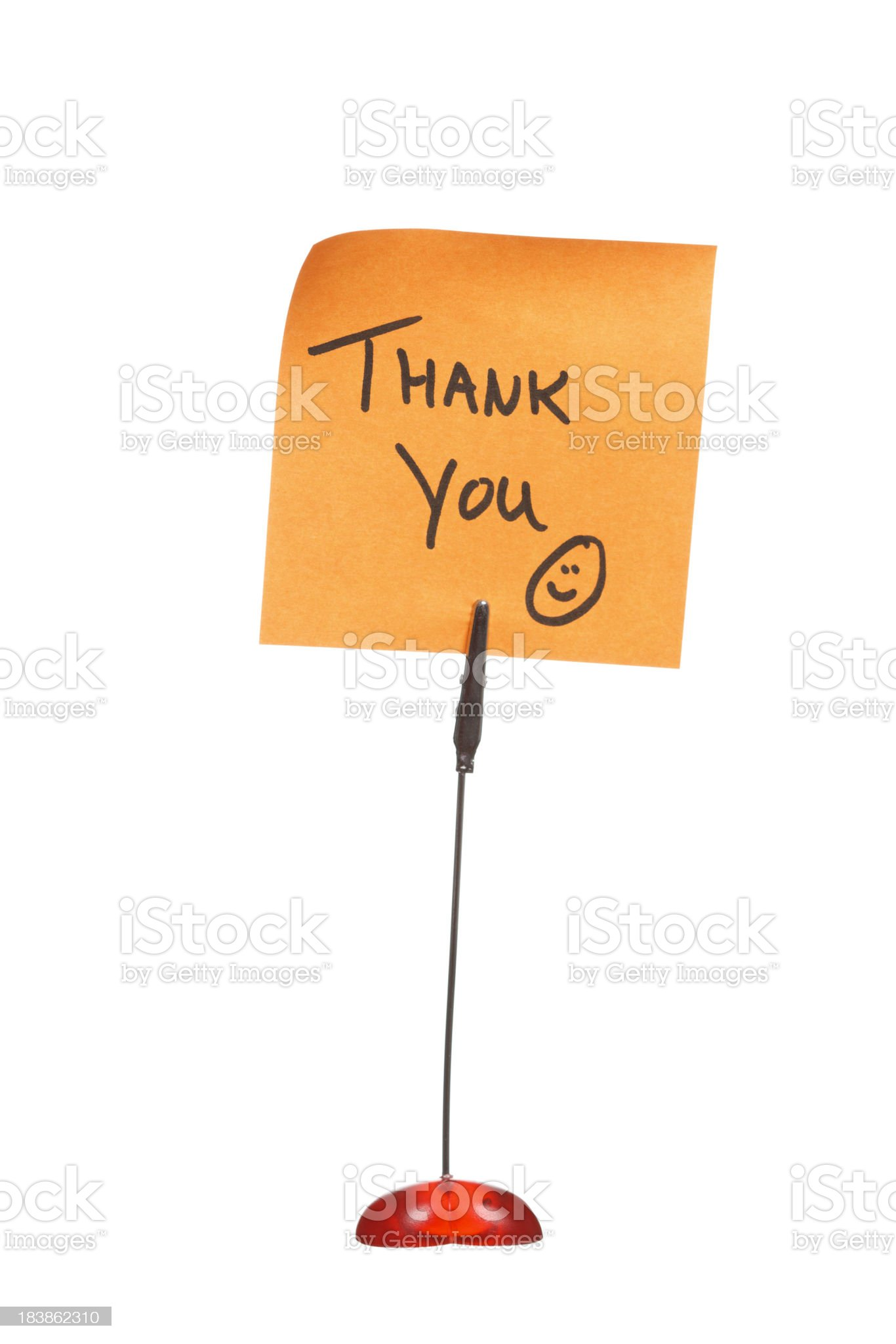 Thank You Note royalty-free stock photo