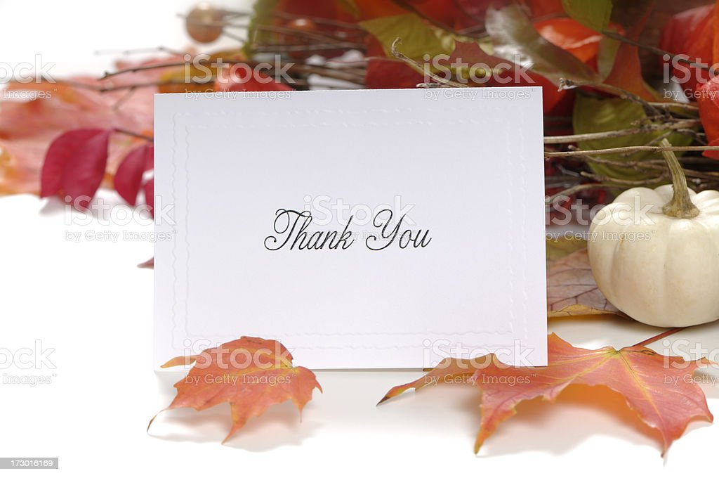 Thank You Note - Thanksgiving concept royalty-free stock photo