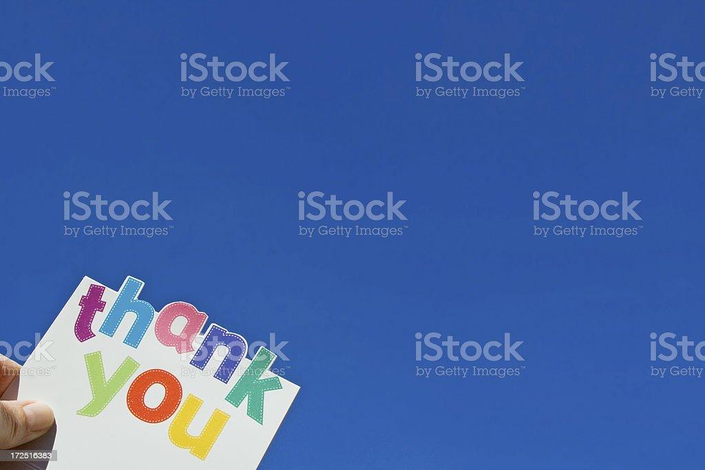 Thank you! royalty-free stock photo