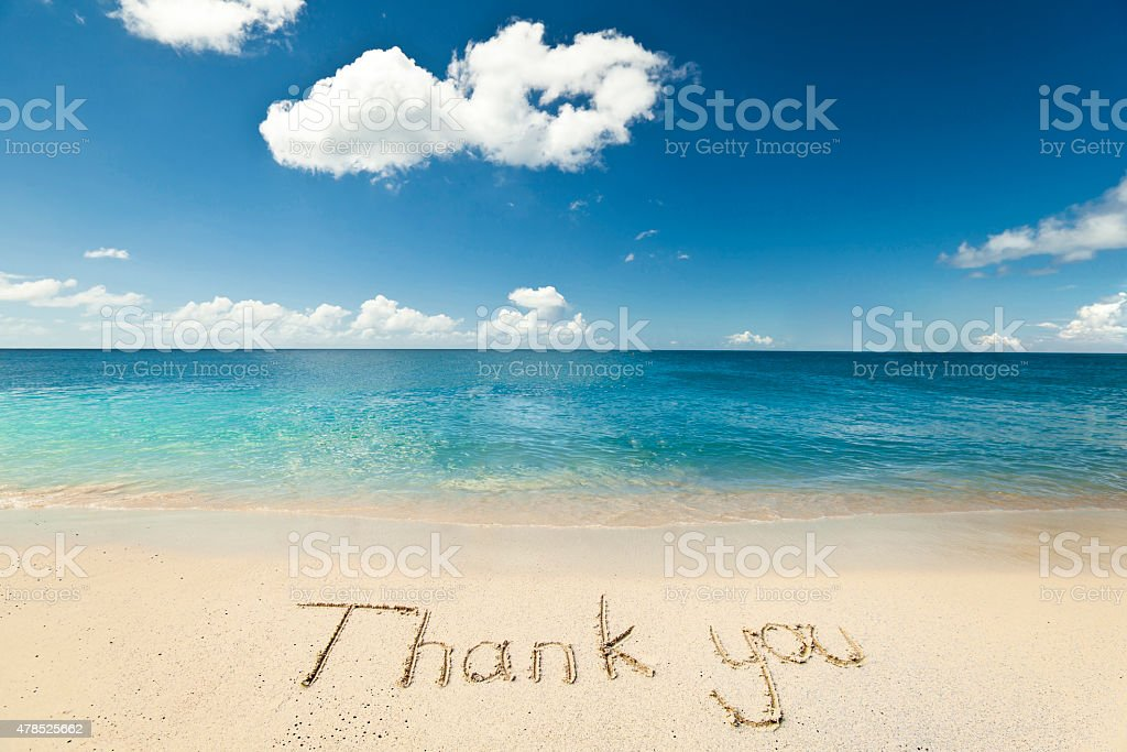 Image result for pictures of thank you on the beach