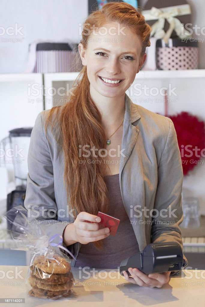 Thank you, please come again... stock photo