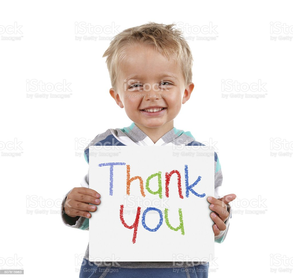 Thank you sign stock photo