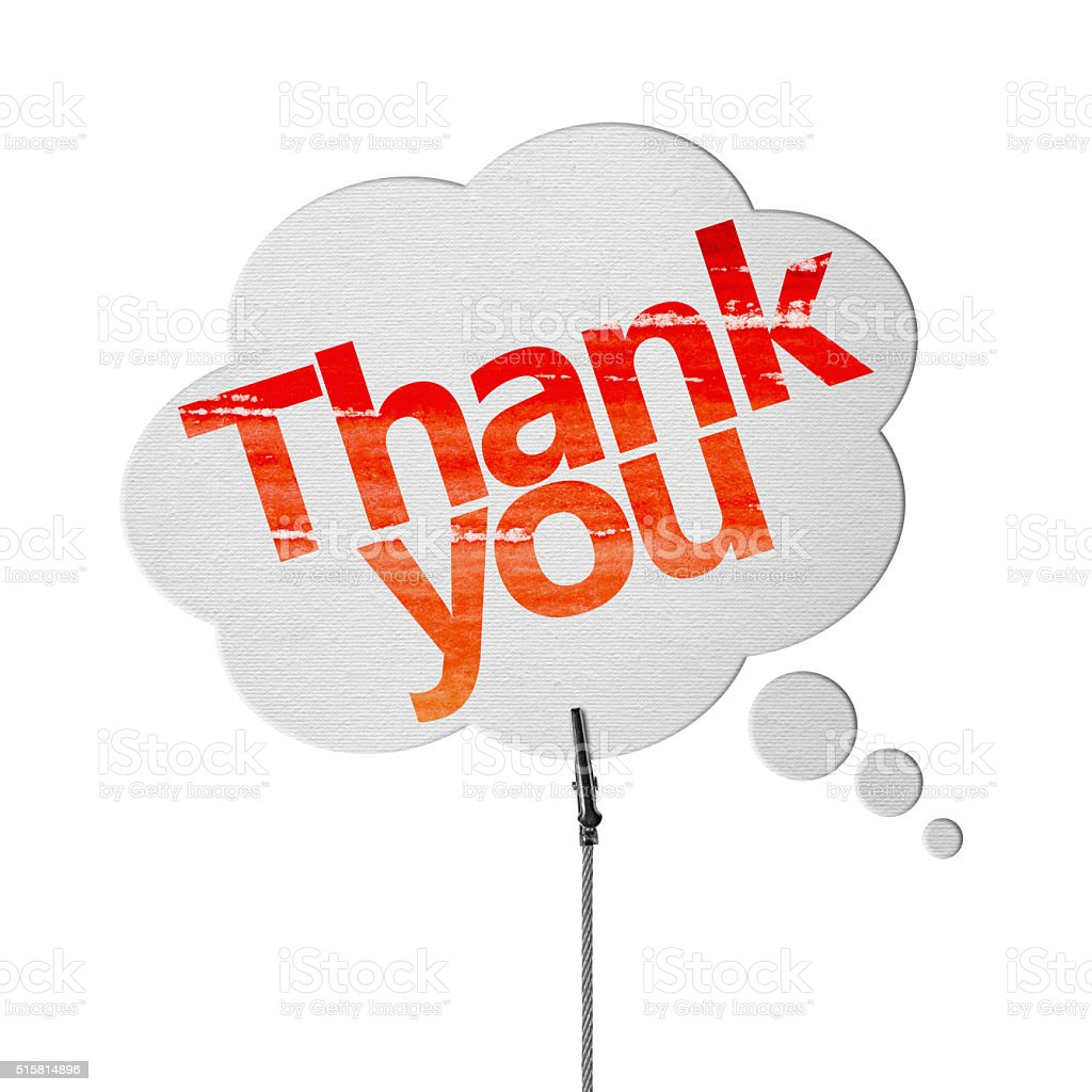 Thank you - Speech Bubbles (Clipping Path) stock photo