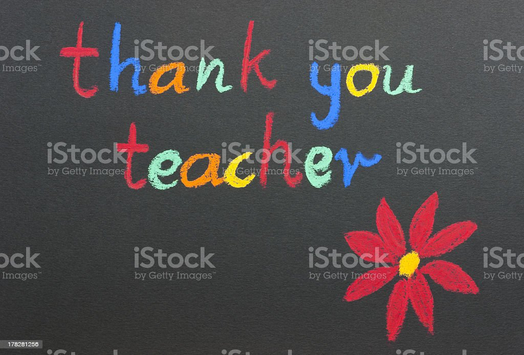 Thank you teacher red flower stock photo
