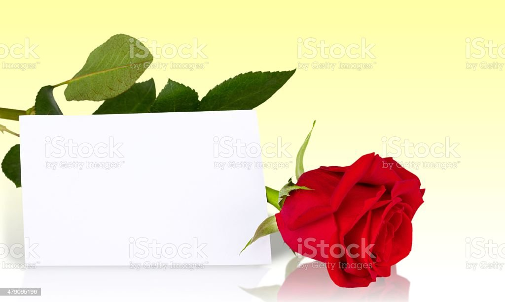 Thank You, Valentine's Day, Greeting Card stock photo