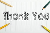 Thank You written in the notebook