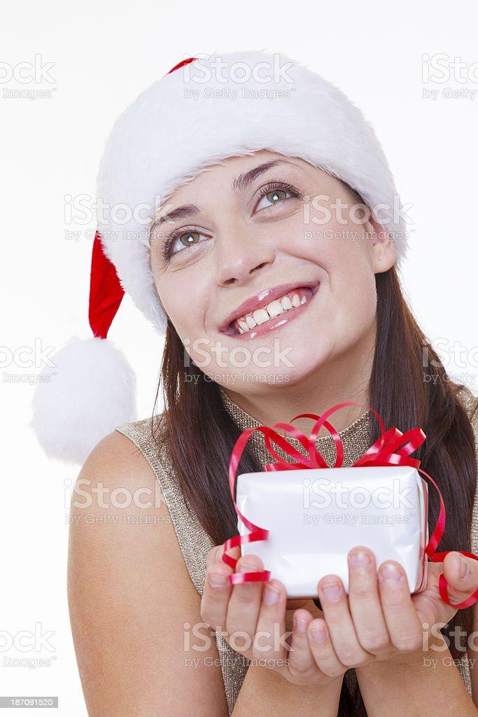 Thankful Santa stock photo