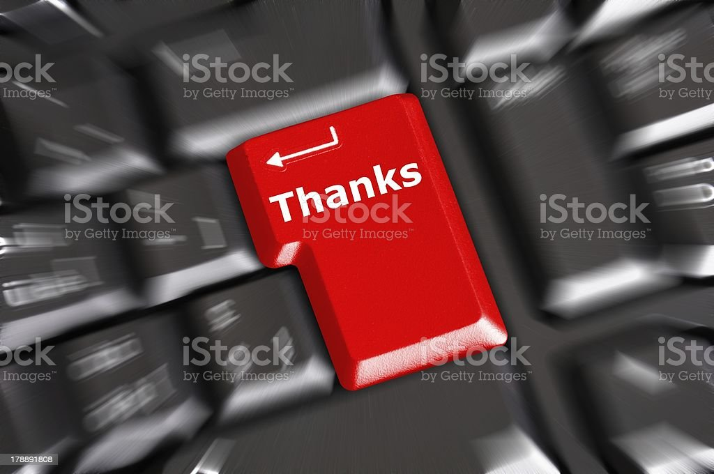 thanks royalty-free stock photo