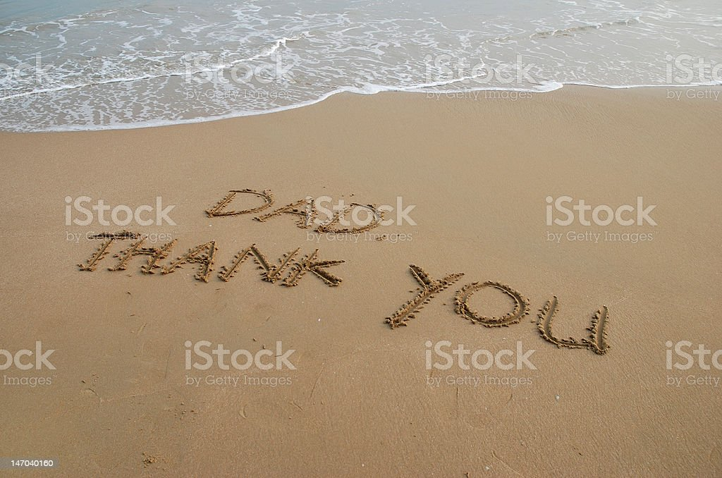 Thanks  to Dad royalty-free stock photo