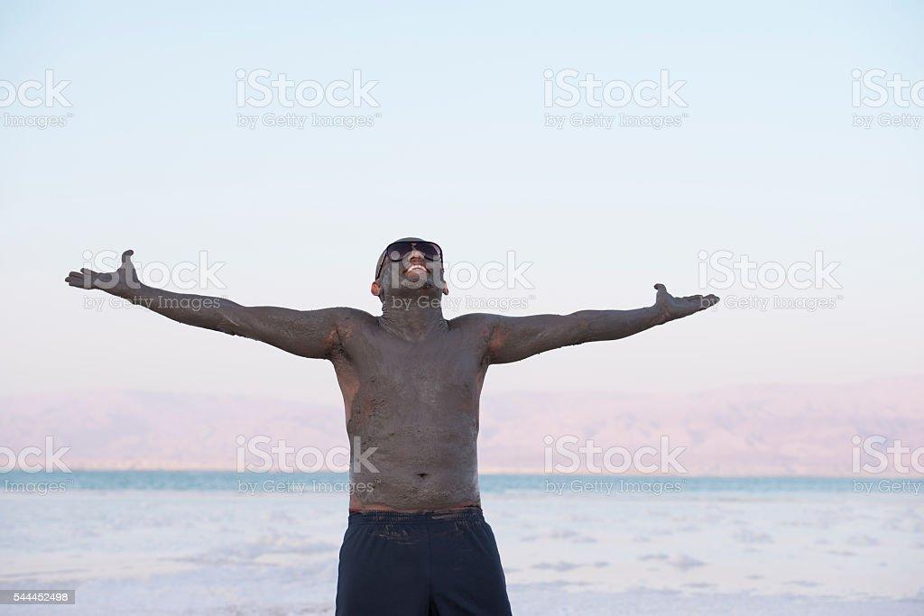 Thanks to Dead Sea. stock photo