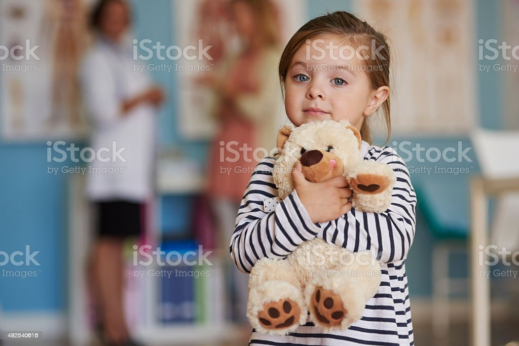Thanks to my toy I feel save stock photo