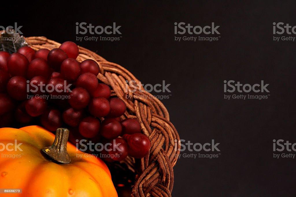 Thanksgiving basket royalty-free stock photo