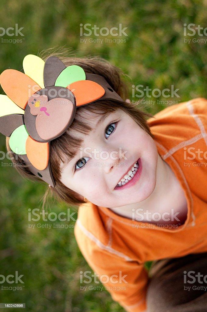 Thanksgiving Boy royalty-free stock photo
