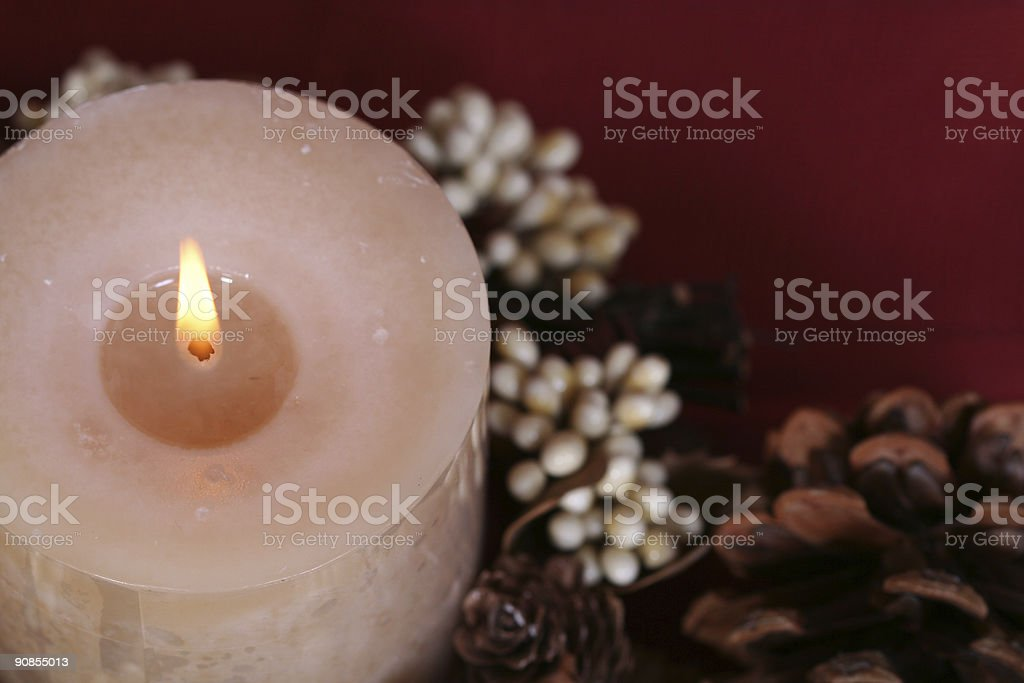 Thanksgiving candle royalty-free stock photo