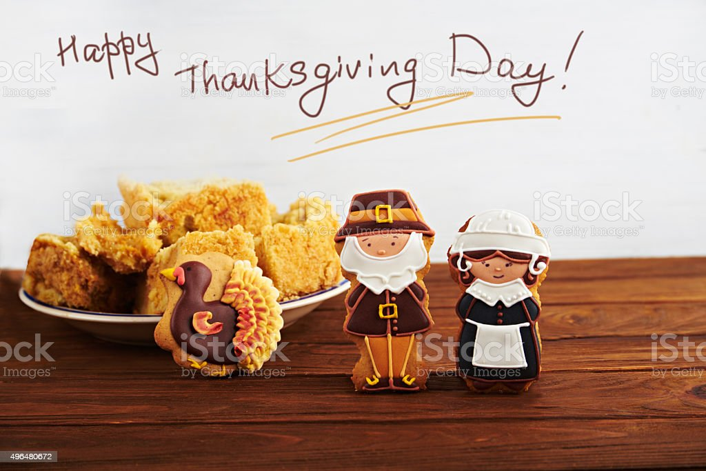 Thanksgiving card with the sign stock photo