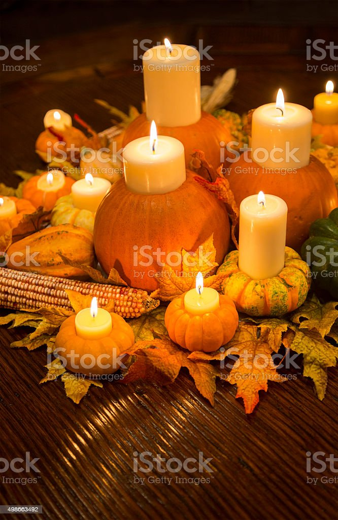 Thanksgiving Centerpiece stock photo