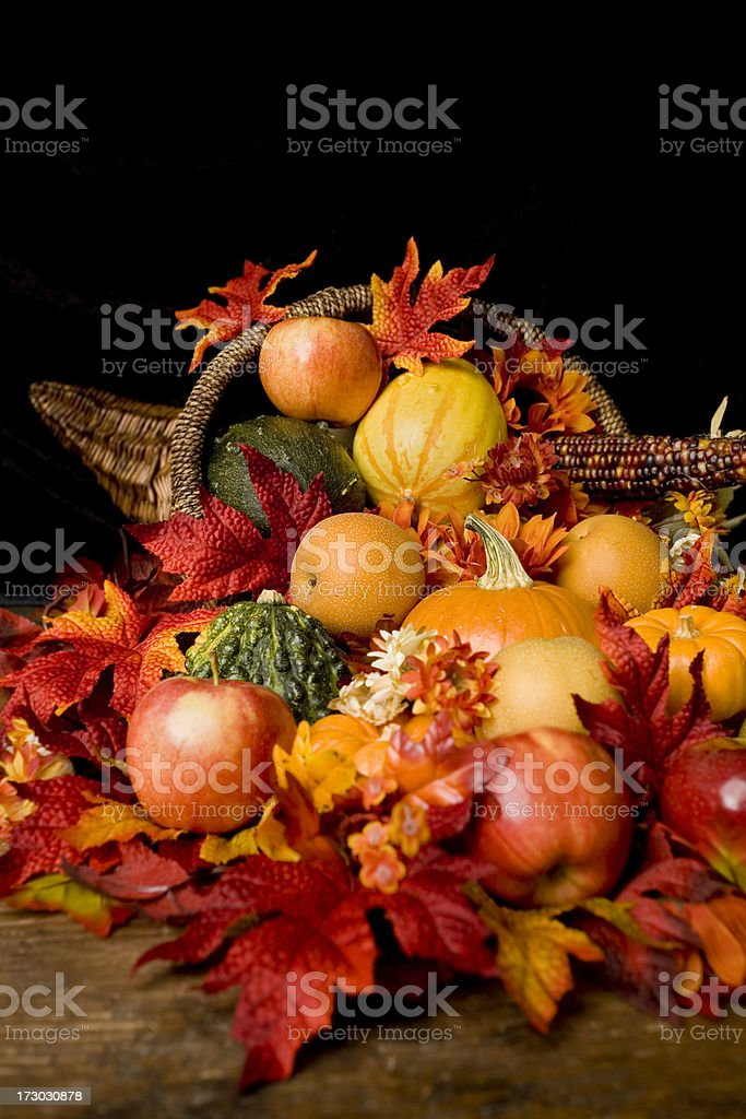 Thanksgiving Cornucopia royalty-free stock photo