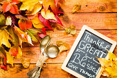 Thanksgiving day, autumn leaves background
