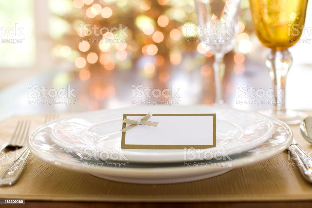 Thanksgiving Dining stock photo