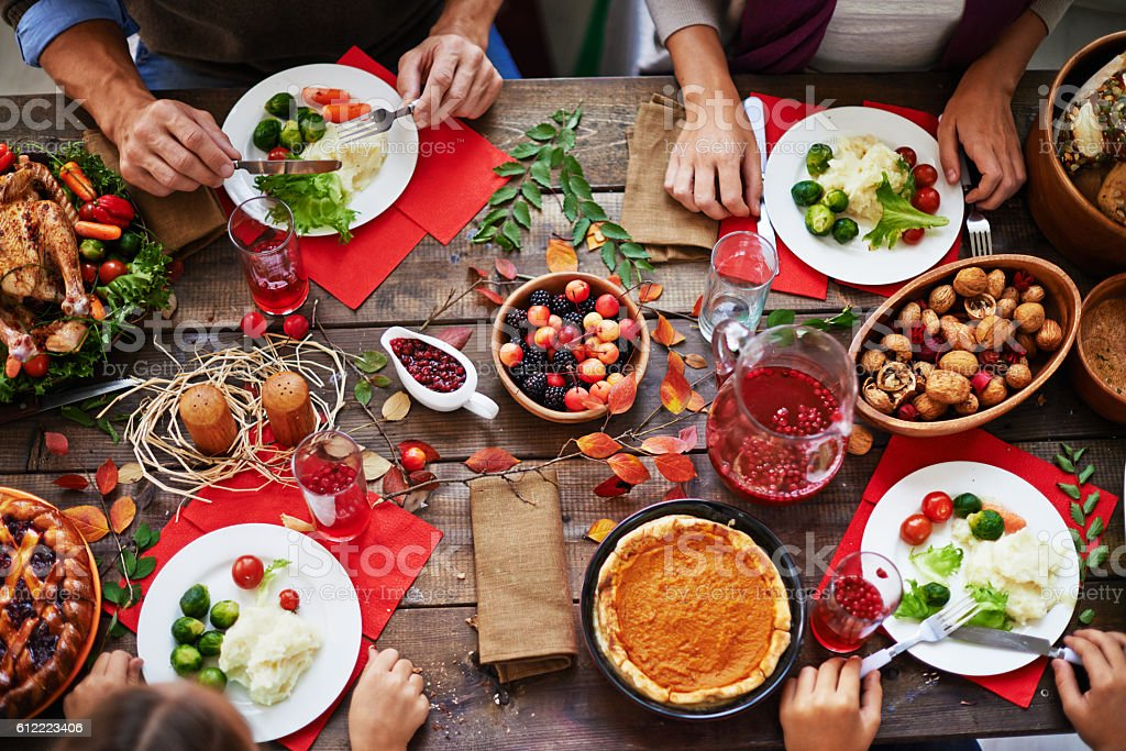 Thanksgiving feast stock photo