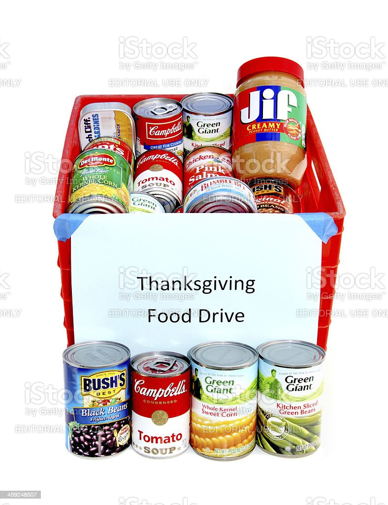 Thanksgiving Food Drive stock photo