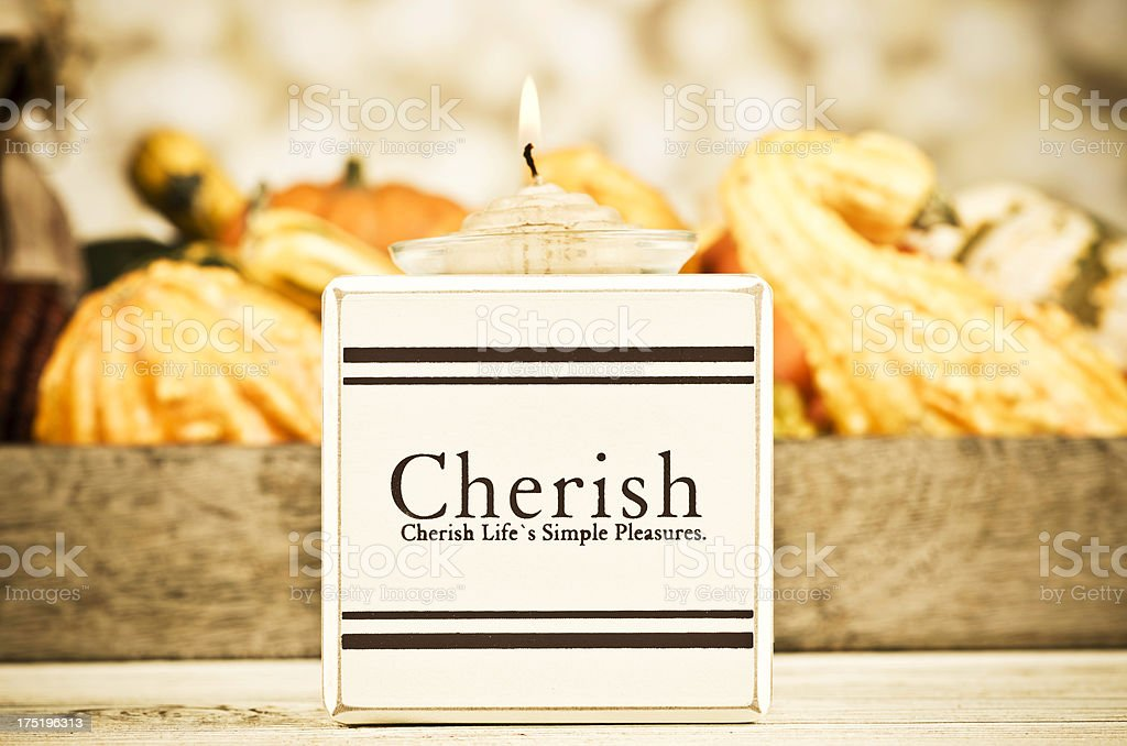 Thanksgiving Message: Cherish Life royalty-free stock photo