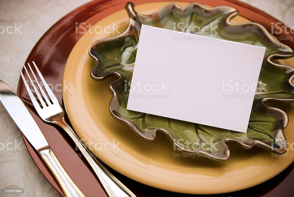 Thanksgiving Place Holder royalty-free stock photo