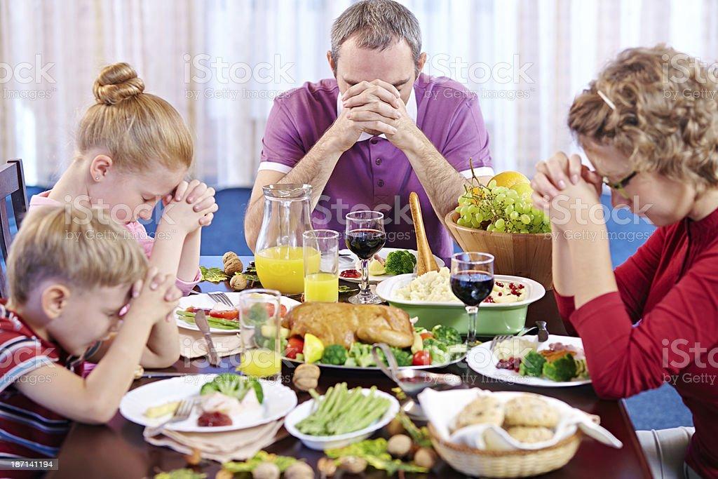 Thanksgiving prayers royalty-free stock photo