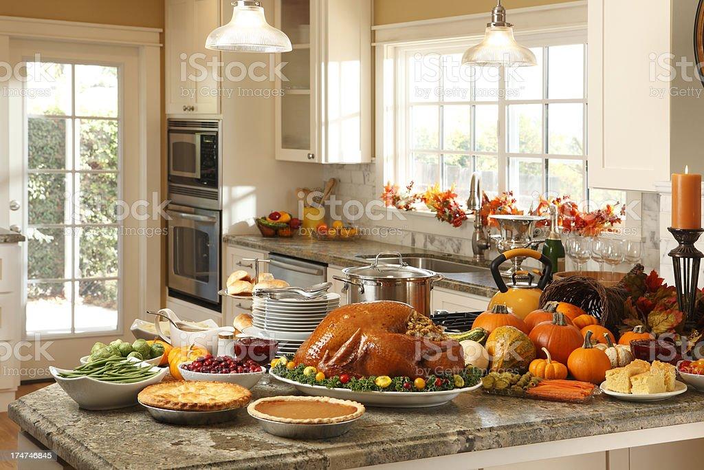 Thanksgiving Preparation stock photo