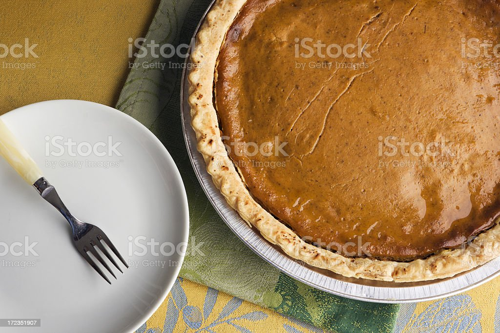 Thanksgiving Pumpkin Pie royalty-free stock photo