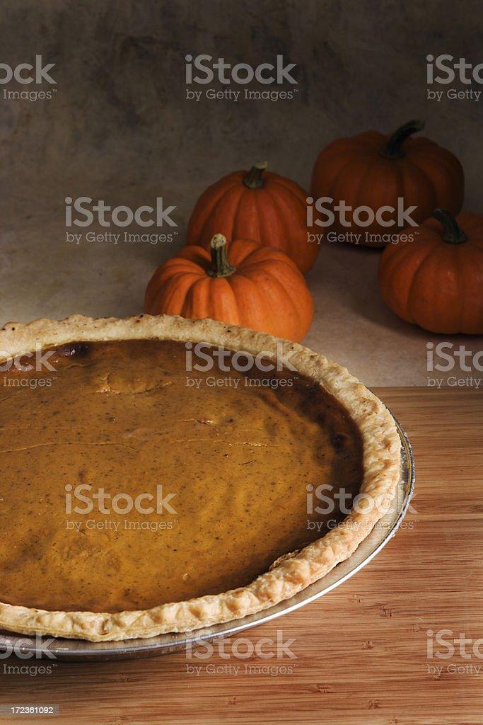 Thanksgiving Pumpkin Pie royalty-free stock photo