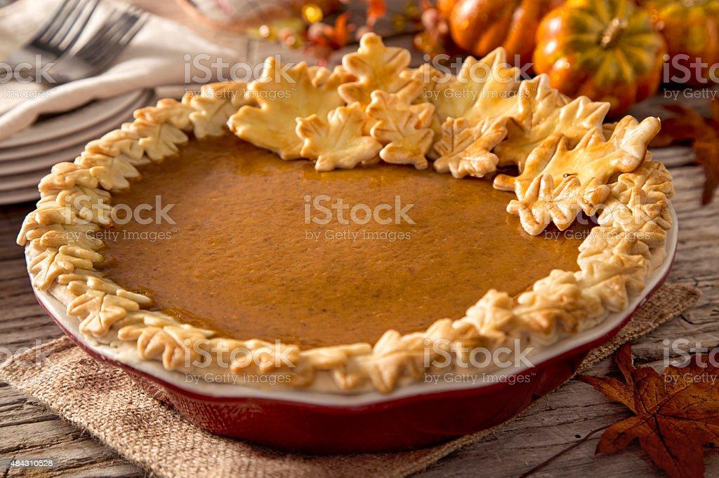 Thanksgiving Pumpkin Pie stock photo
