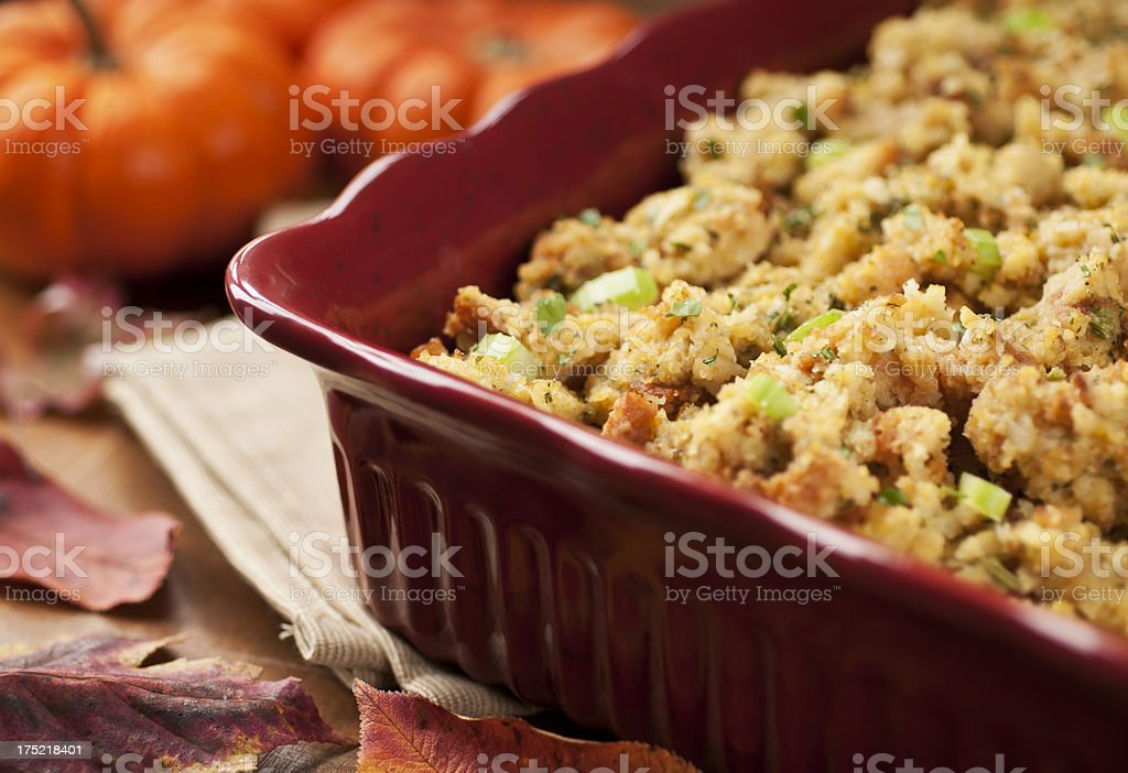 Thanksgiving Stuffing stock photo