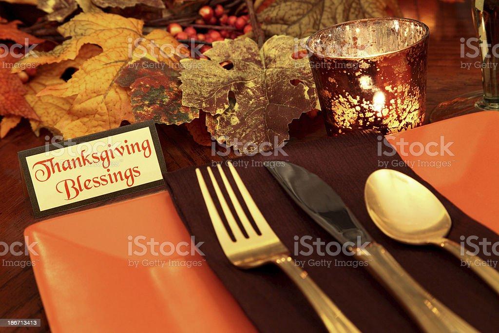 Thanksgiving Table Setting stock photo