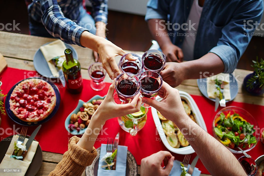 Thanksgiving toast stock photo