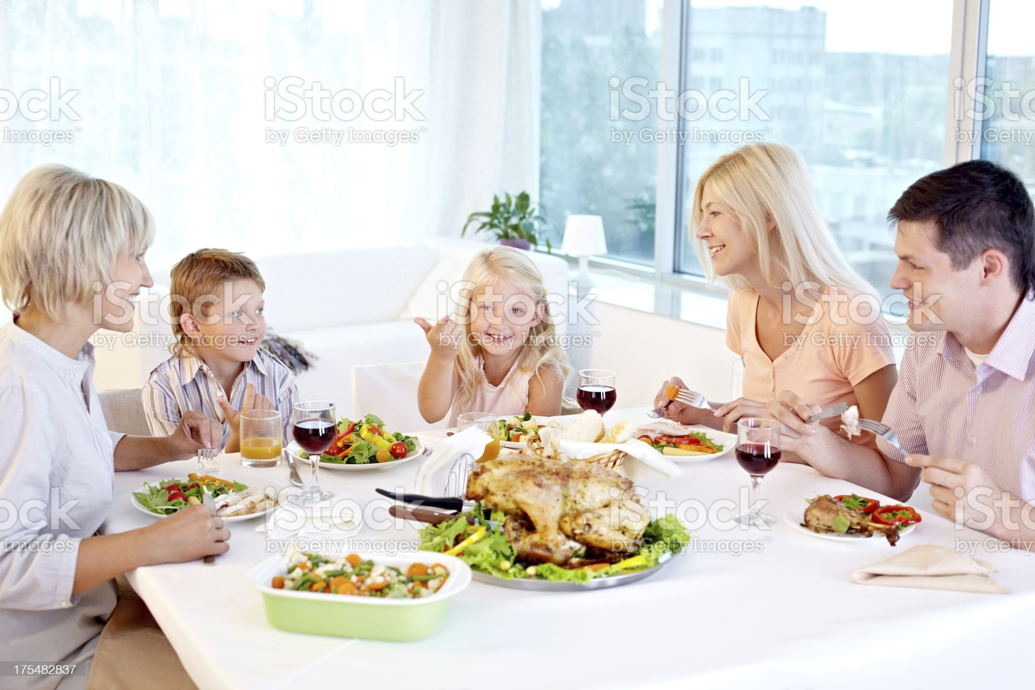 Thanksgiving tradition royalty-free stock photo