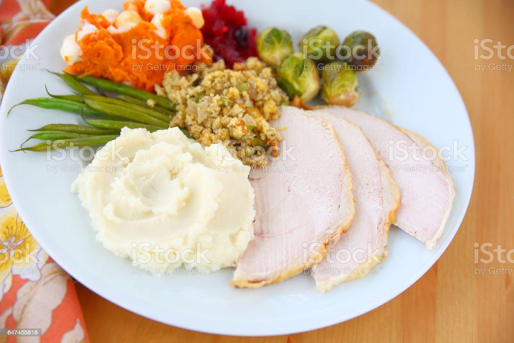 Thanksgiving traditional food stock photo