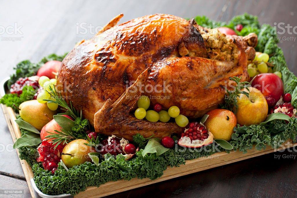 Thanksgiving Turkey dinner, FoodLove2014 stock photo