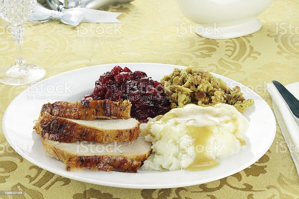Thanksgiving Turkey Dinner royalty-free stock photo