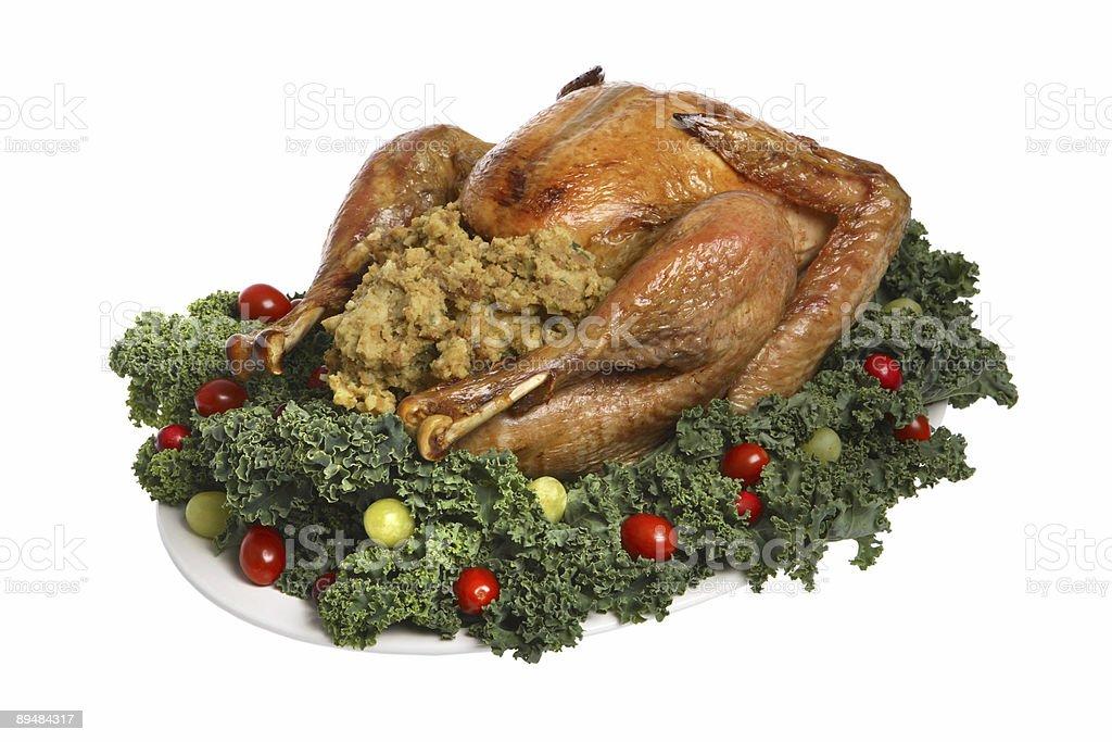 Thanksgiving turkey (isolated) royalty-free stock photo