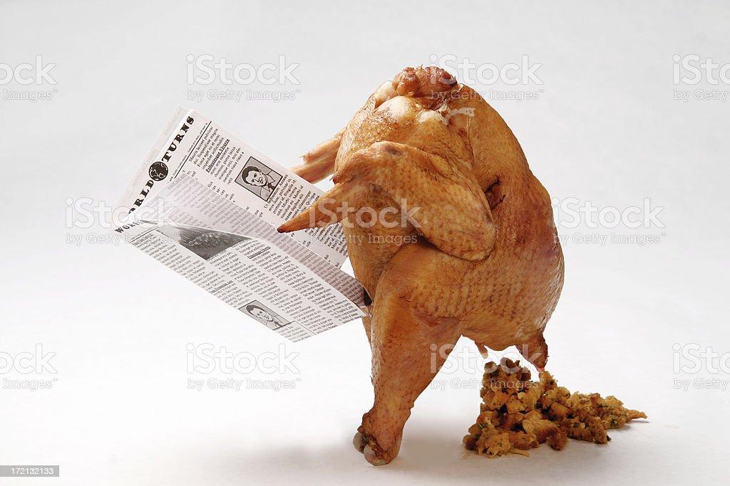 Thanksgiving Turkey Pooping Stuffing II stock photo