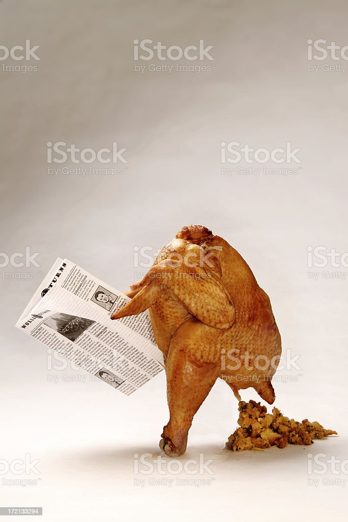 Thanksgiving Turkey Pooping Stuffing stock photo