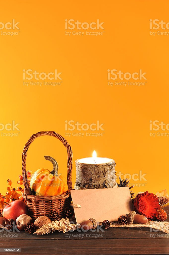 Thanksgiving with card stock photo