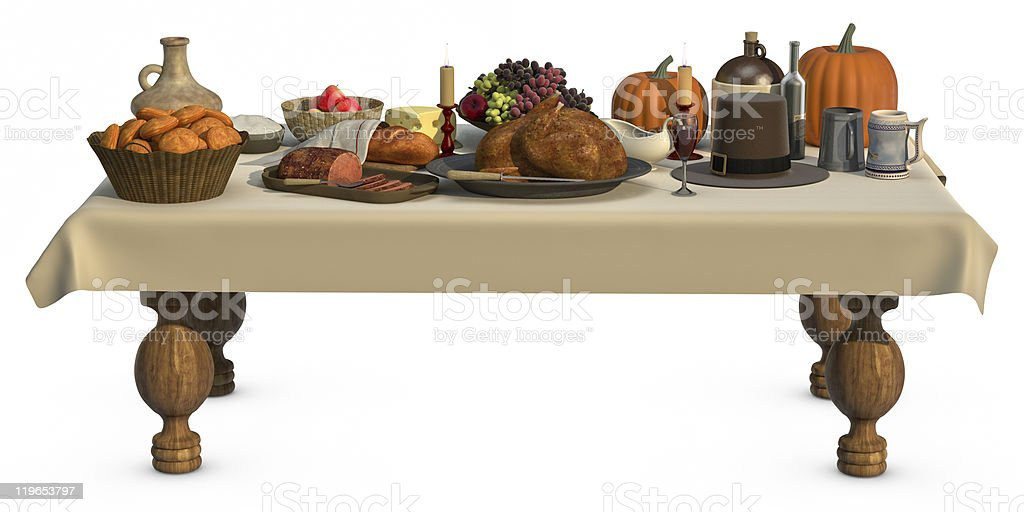 Thanksgving Dinner royalty-free stock photo