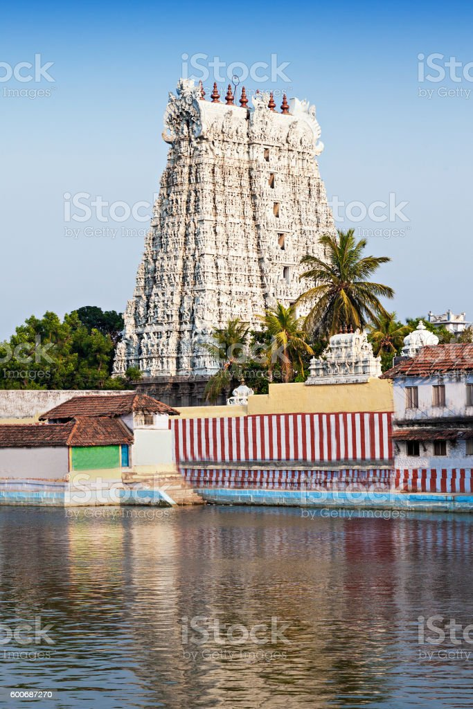Thanumalayan Temple stock photo