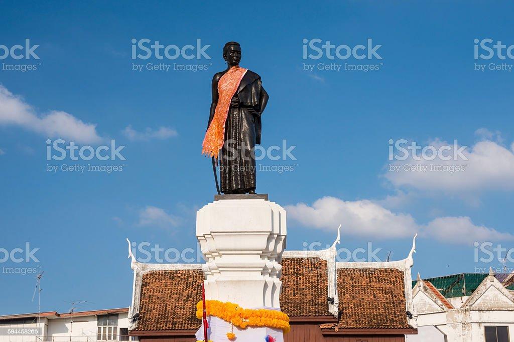 Thao Suranaree or Ya Mo monument stock photo